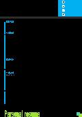 藍白簡約空白表格簡歷可下載